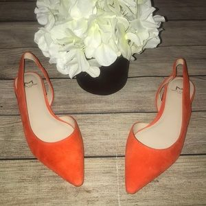 Marc Fisher Orange Sessily Skimmer D'Orsay Flats